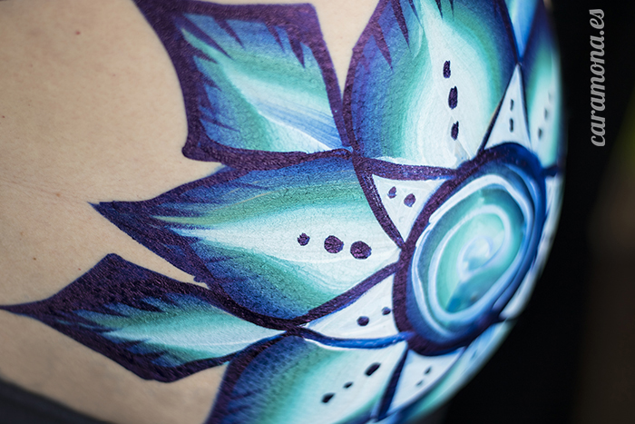 mandala belly paint barcelona