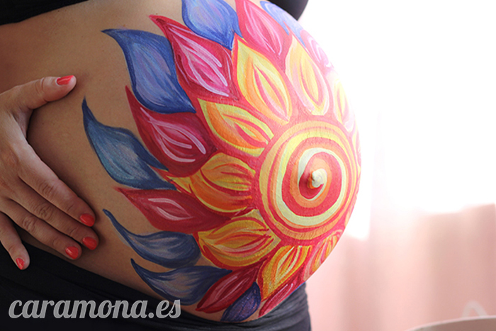 Flower Belly Paint