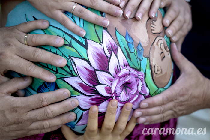 Lotus Flower Belly Painting Barcelona