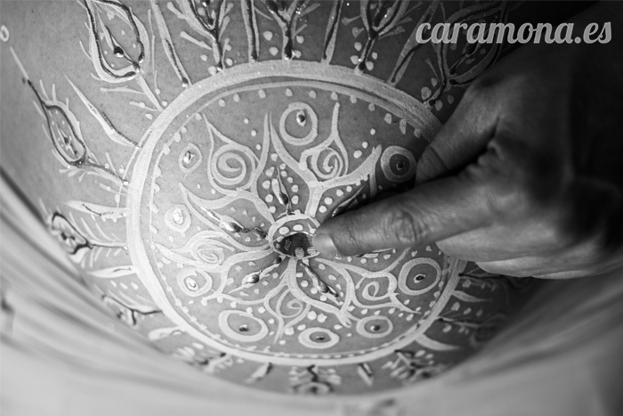 Mandala Black And White Close Up Barcelona