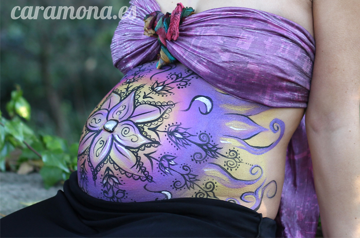 Pintura Embarazada Henna Purple